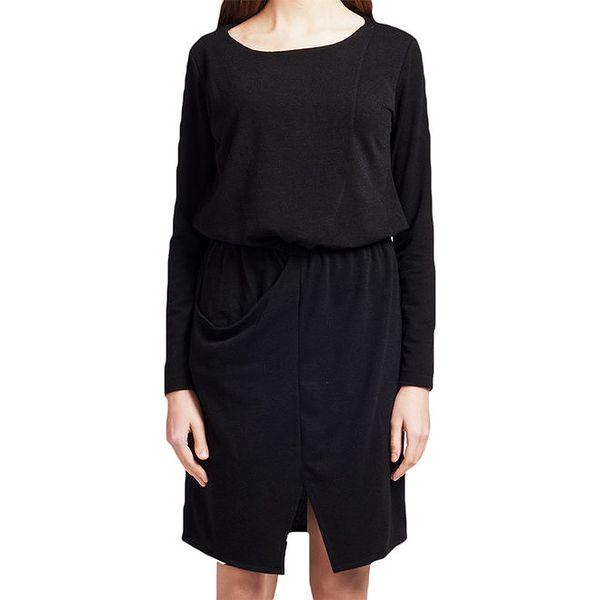 Dámské černé šaty s dlouhým rukávem Lanti