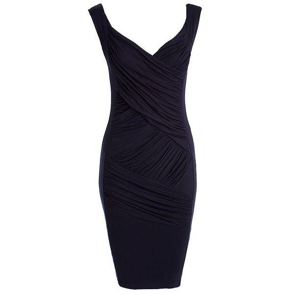 Dámské tmavě modré šaty se zavinovacím efektem CeMe London