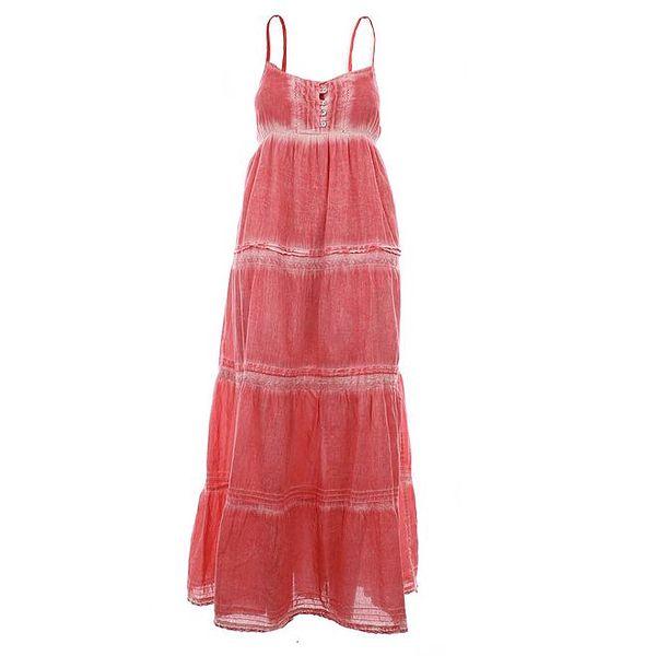 Dámské dlouhé růžové šaty Timeout