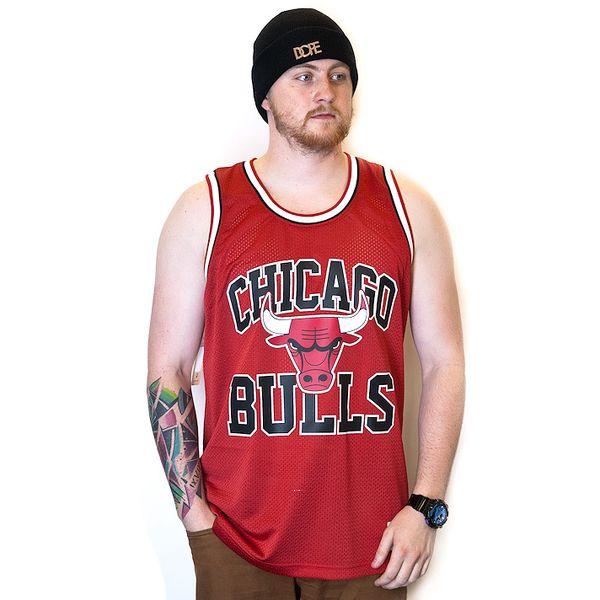 Dres Mitchell & Ness Chicago Bulls Drop Step Red červená / černá M