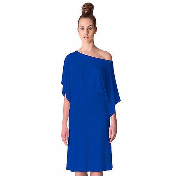 Dámské kobaltově modré šaty s volným ramenem Yuliya Babich