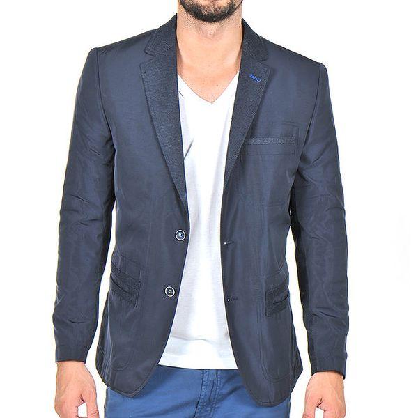 Pánské tmavě modré sako na dva knoflíky Giorgio Di Mare