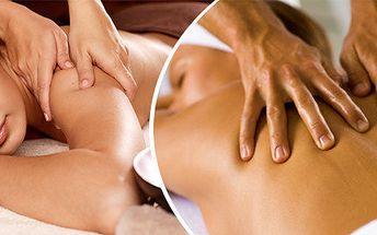Regenerační masáž zad a šíje - 45 minut