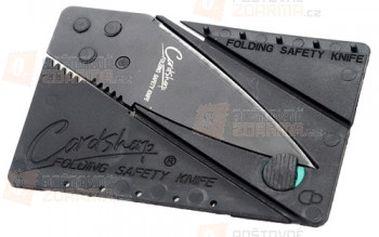 Skládací nůž velikosti karty do peněženky - černý a poštovné ZDARMA! - 9999901660