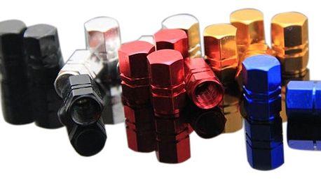 Hliníkové čepičky na ventilky - různé barvy