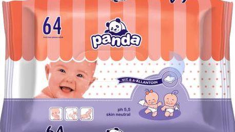 Vlhčené ubrousky Panda - 64 ks