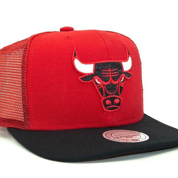Kšiltovka Mitchell & Ness Untruck Chicago Bulls Red Snapback červená / černá / vícebarevné
