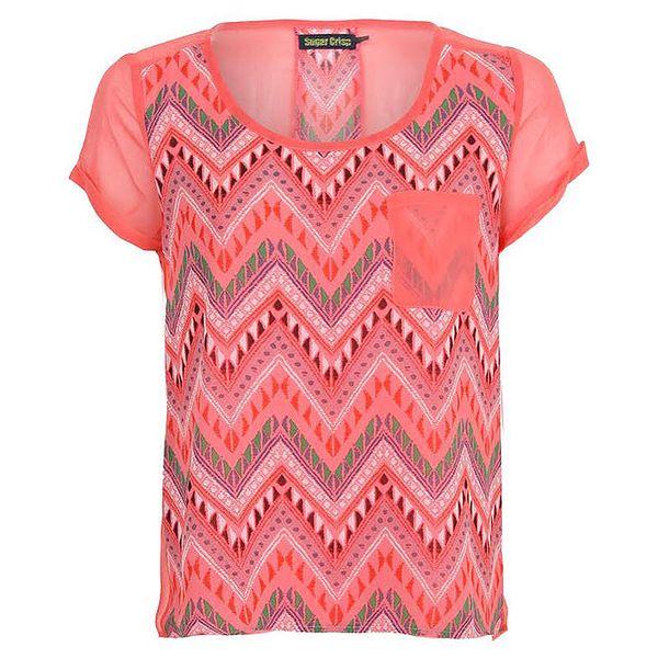 Dámské tričko s aztéckým vzorem Sugar Crisp