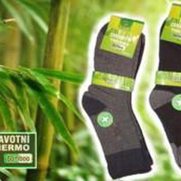 5 párů zdravotních THERMO ponožek s bambusovým vláknem
