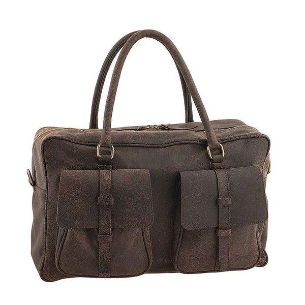 Tmavě hnědá taška s kapsami Valentina Italy