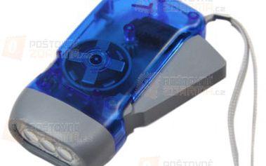 Mini LED baterka na dynamo pohon a poštovné ZDARMA! - 9999914670