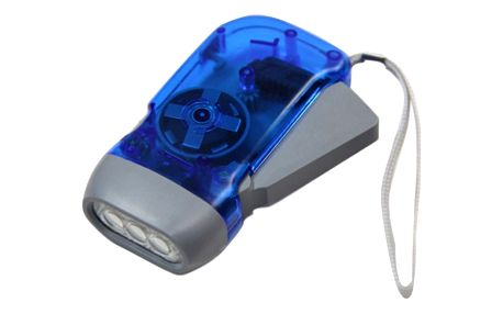 Mini LED baterka na dynamo pohon