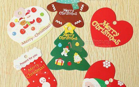 Vánoční dárkové visačky a poštovné ZDARMA! - 9999914764
