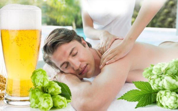PIVNÍ dokonalá MASÁŽ ŠÍJE a ZAD + DÁREK plechovka piva! 30min. relax a nasávání hořko-sladké vůně!