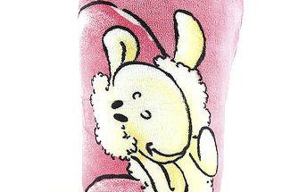 Nádherný dětský spací vak s motivem myšky Diddliny, barva růžová