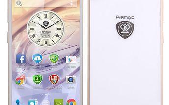 Mobilní telefon se špičkovou výbavou Prestigio Grace PSP7557 bílý