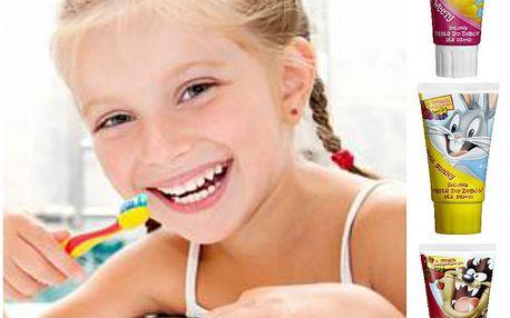 Dětská zubní pasta Looney Tunes s ovocnými příchutěmi!