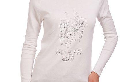 Dámské krémové tričko s dlouhým rukávem Galvanni
