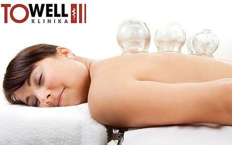 Masáž gelovými baňkami a uvolňující a regenerační masáž zad
