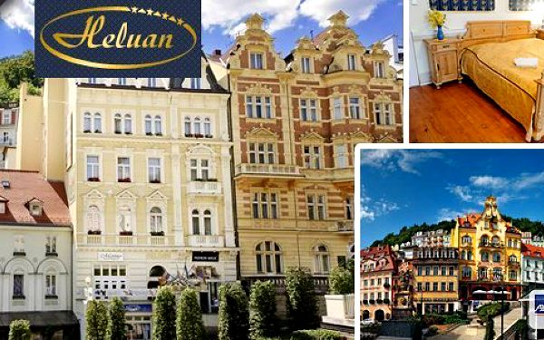 Lázně Karlovy Vary -romantický pobyt v komfortním 4* hotelu Heluan pro 2 osoby s polopenzí v srdci světoznámého lázeňského města. Večeře, vstup do bazénového komplexu Alžbětiny Lázně, masáže a zábaly! Platnost až do 31.03.2015!