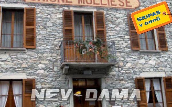 Hotel Unione Molliese, Monterosa Ski, Itálie, vlastní doprava, polopenze