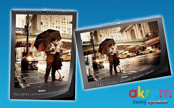 Nástěnný kalendář z vašich vlastních fotografií ve formátu A4 nebo A3