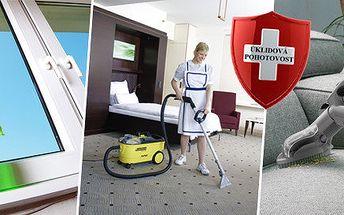 Profesionální úklid, mytí oken v délce 2 hodin nebo strojní čištění sedací soupravy či koberce