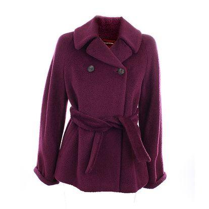 Dámský vlněný kabát v barvě burgundského vína Max Mara
