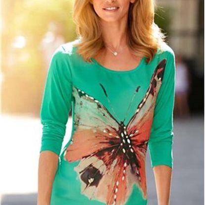 Dlouhé tričko s kamínkovou dekorací