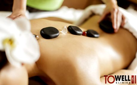 Lávové kameny, uvolňovací a regenerační masáž zad