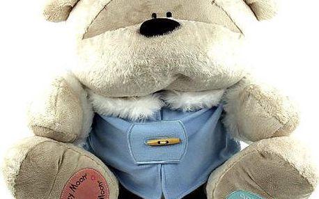Medvídek Fizzy Moon Medvídek 60cm v modrém kabátku Someone Special Winter