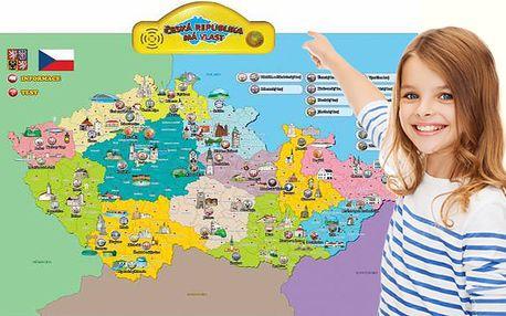 Interaktivní výuková mluvící mapa České republiky, poštovné zdarma
