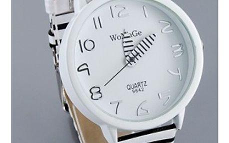 Zebrované dámské hodinky