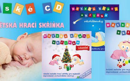 Kolekce 3 CD Hrací skříňka pro miminka