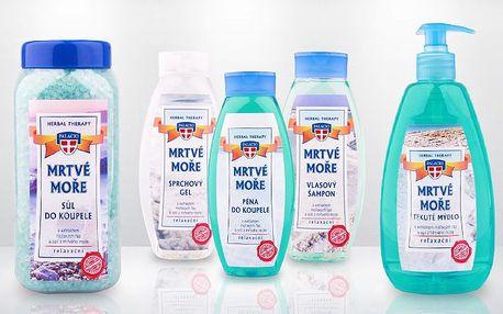 Wellness balíček 5 přírodních produktů se solí z Mrtvého moře