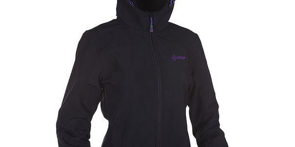 Dámská černá softshellová bunda s kapucí Kilpi