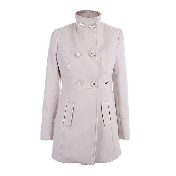 Dámský smetanový kabát se stojáčkem Phard