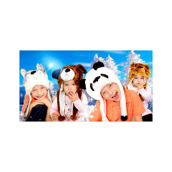 Plyšová zvířecí čepice pro děti i dospělé! V podobě pandy, husky, médi, lva a pejska!