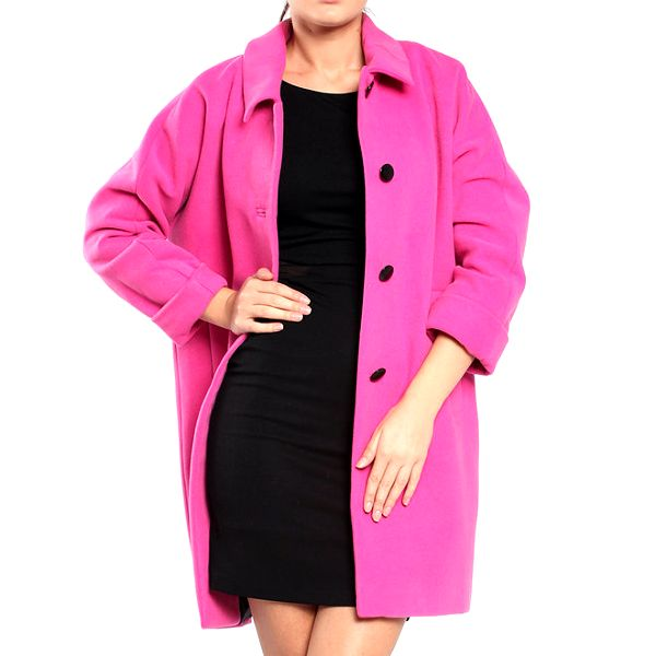Dámský růžový retro kabát Vera Ravenna