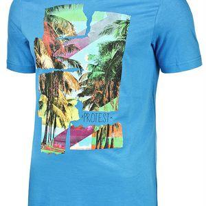 Pánské tričko Protest Longisland modrá