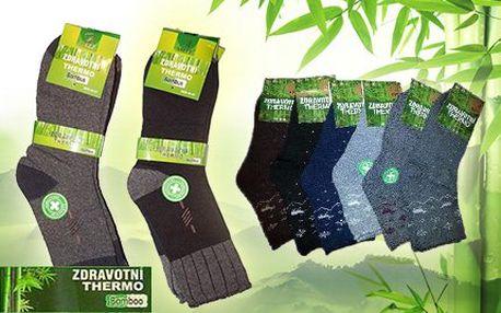 Zdravotní thermo ponožky s bambusovým vláknem - 5 párů