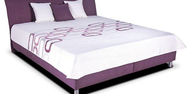 Elegantní a praktická čalouněná postel Colombia 160x200 cm