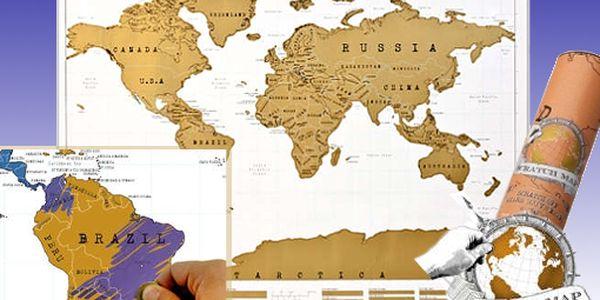 Geniální dárek pro každého! Stírací mapa světa