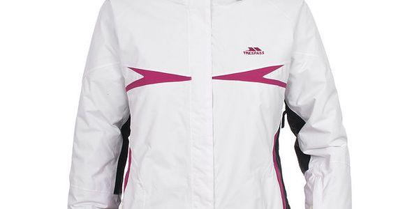 Dámská bílo-růžová lyžařská bunda s podšívkou Trespass