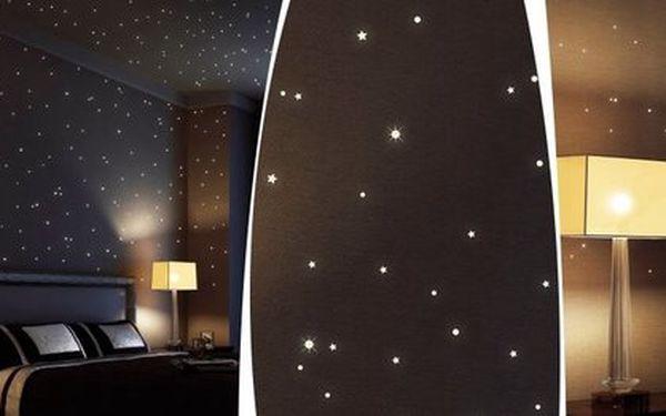 Zářící hvězdy noční oblohy - až 352 kusů svítících hvězd a bodů