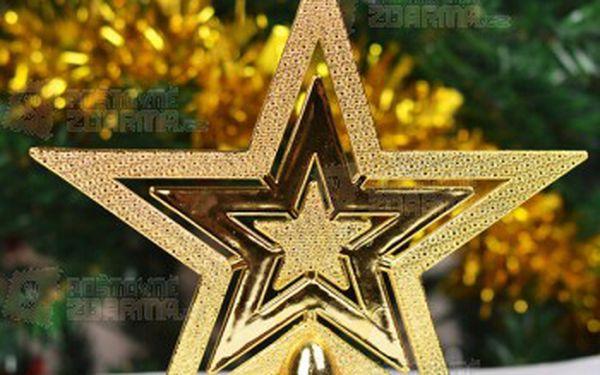 Hvězda na stromeček ve zlaté barvě a poštovné ZDARMA! - 9999914903