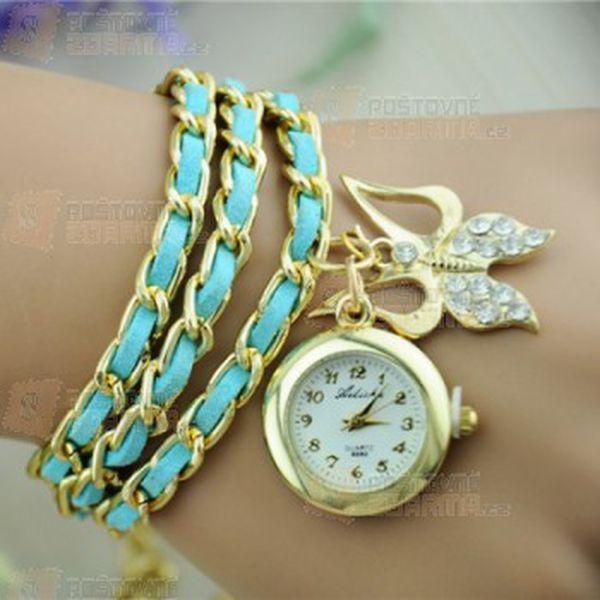 Náramkové hodinky s proplétaným barevným páskem a poštovné ZDARMA! - 9999914892