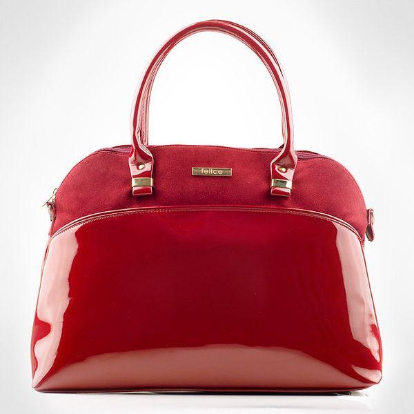 Dámská červená bowlingová kabelka Felice