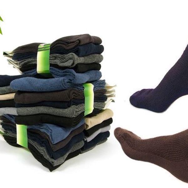 5 párů zdravotních ponožek bez gumiček s bambusovým vláknem a bavlnou