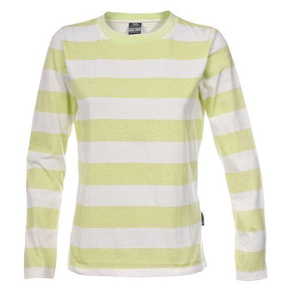 Dámské tričko se žlutozelenými pruhy Trespass